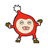 Comic cartoon funny christmas creature Royalty Free Stock Image