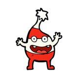 comic cartoon funny christmas creature Stock Photography