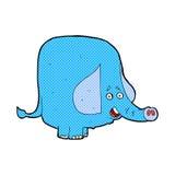 Comic cartoon funny elephant. Retro comic book style cartoon funny elephant Royalty Free Stock Image