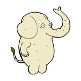 Comic cartoon funny elephant. Retro comic book style cartoon funny elephant Stock Photography
