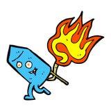 Comic cartoon funny firework character Stock Photos
