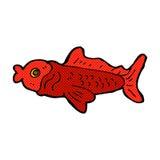 comic cartoon funny fish Stock Photo
