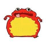 Comic cartoon funny frog. Retro comic book style cartoon funny frog Stock Images