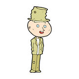 Comic cartoon funny hobo man Royalty Free Stock Photo
