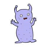 comic cartoon funny little alien Stock Photo