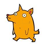 Comic cartoon funny little dog Royalty Free Stock Image