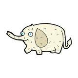 Comic cartoon funny little elephant Stock Images