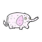 Comic cartoon funny little elephant Stock Image