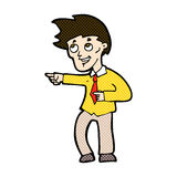 comic cartoon funny office man pointing Royalty Free Stock Images