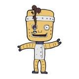 Comic cartoon funny old robot Stock Photos