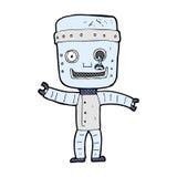 Comic cartoon funny old robot Royalty Free Stock Photo