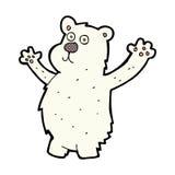 Comic cartoon funny polar bear Royalty Free Stock Image