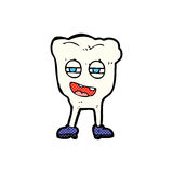 comic cartoon funny tooth character Royalty Free Stock Image