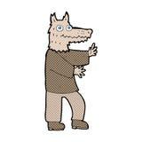 comic cartoon funny werewolf Royalty Free Stock Photo