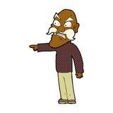 Comic cartoon furious old man Stock Image