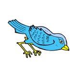 Comic cartoon garden bird Royalty Free Stock Photo