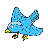 Comic cartoon garden bird Royalty Free Stock Image