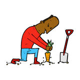 Comic cartoon gardener Royalty Free Stock Images