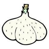 comic cartoon garlic Stock Photos
