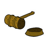 Comic cartoon gavel Royalty Free Stock Photo