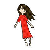 Comic cartoon ghost like girl Royalty Free Stock Photo