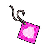 Comic cartoon gift tag Royalty Free Stock Photography
