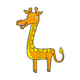 Comic cartoon giraffe Stock Images