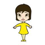 Comic cartoon girl in dress Stock Photo