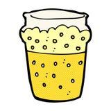 Comic cartoon glass of beer Stock Photo