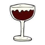 Comic cartoon glass of red wine. Retro comic book style cartoon glass of red wine Stock Photos