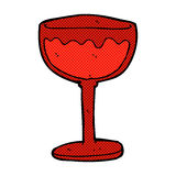 Comic cartoon glass of red wine. Retro comic book style cartoon glass of red wine Royalty Free Stock Images