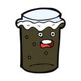 Comic cartoon glass of stout beer Stock Photo