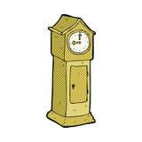 Comic cartoon grandfather clock Stock Photography