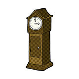 Comic cartoon grandfather clock Royalty Free Stock Photos