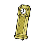 Comic cartoon grandfather clock Stock Photo