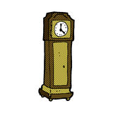 Comic cartoon grandfather clock Royalty Free Stock Image