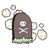 comic cartoon grave Stock Image
