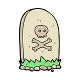 comic cartoon grave Royalty Free Stock Photography