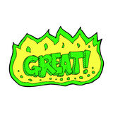 Comic cartoon great symbol Royalty Free Stock Image