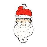 Comic cartoon grim santa face. Retro comic book style cartoon grim santa face Royalty Free Stock Image