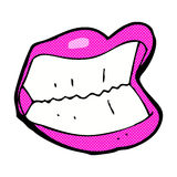 Comic cartoon grinning mouth Royalty Free Stock Photo