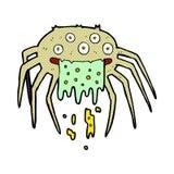 Comic cartoon gross halloween spider Royalty Free Stock Photography