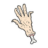 Comic cartoon gross severed hand Royalty Free Stock Photography