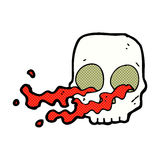 Comic cartoon gross skull Stock Image