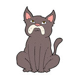 comic cartoon grumpy little dog Royalty Free Stock Images