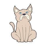 comic cartoon grumpy little dog Royalty Free Stock Photos