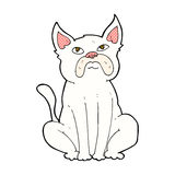 comic cartoon grumpy little dog Stock Images