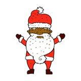 Comic cartoon grumpy santa Stock Photo