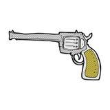 Comic cartoon gun Stock Photography