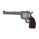 Comic cartoon gun Royalty Free Stock Images